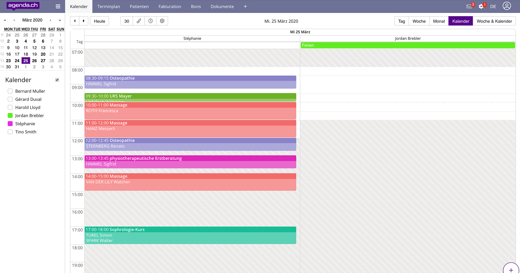 Features 9 team agenda view de